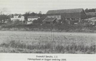 1908 fjøset bygt 1912 låven bygd